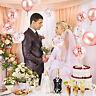 48x Rose Gold Foil Balloon Set Confetti Bouquet Wedding Birthday Party Decor US