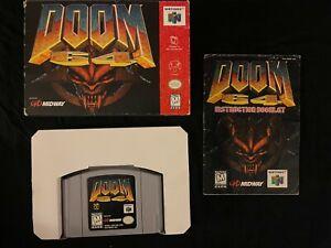 Doom 64 (Nintendo 64, 1997) Box Manual Complete CIB N64