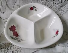 WOOD & SONS RED ROSE TRI SERVING DISH BOWL 941 MADE IN ENGLAND