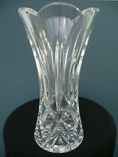 "Perfect WATERFORD Crystal 8"" MOURNE LISMORE Scalloped VASE Cut Scallop SIGNED UK"