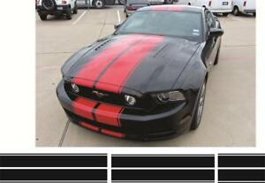 Ford Mustang  Double Rally Racing Stripes Decals GTO Shelby GT 350 2005 - 2009