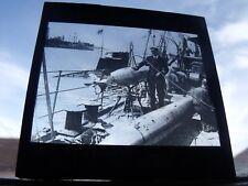 Glass Lantern Slide Lt Norman Holbrook VC Submarine B11 Royal Navy Free UK Post