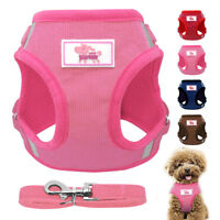 Dog Harness Leash Mesh Padded Pet Puppy Vest For Dogs French Bulldog Kitten XS-L