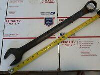 "Vtg Proto Tools 1252B 1-5/8"" Combination Box Open End Wrench 23"" Long USA"