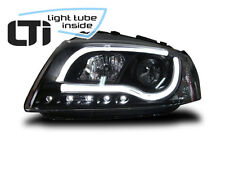 LTi Scheinwerfer Audi A3 8P Bj. 2003-2008 schwarz LED Tagfahrlicht O. Light Tube