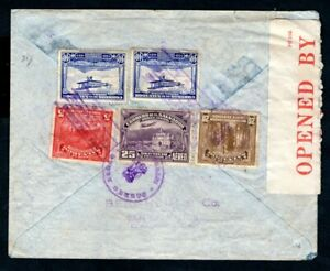 El Salvador - 1940 Airmail Censor Cover to Paris, France