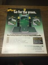 G. L. PUTTING CHALLENGE 2 Pool Table flyer- good used original