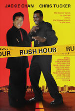 Rush Hour Movie Poster 2 Sided Original Final 27x40 Jackie Chan Chris Tucker