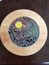 handmade stained glass mosaic art plate