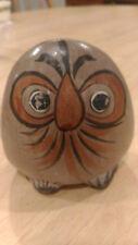 "Vintage! Mexico Tonala Pottery Owl Painted Bird Mexican folks Arts - 4"" x 4.5"""