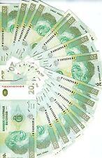 LOT Congo D.R., 20 x 20 Francs 2003 P-94, JB-A UNC > Lions