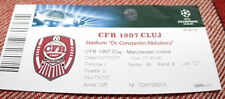 Ticket for collectors CL CFR Cluj - Manchester United 2012 Romania England