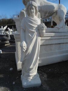 STATUA SCULTURA ANGELO ANGIOLETTO IN CEMENTO MARMO PIETRA 105 cm