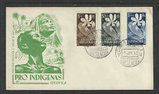 1952 SPANISH GUINEA SCOTT # B19-B21 UNADDRESSED FIRST DAY COVER FDC
