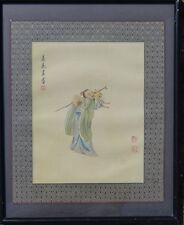 Seidenmalerei, China/Japan, div. rote Stempel und Schriftzeichen  (252/12016)