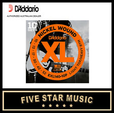 D'ADDARIO EXL140 10 PACK ELECTRIC GUITAR STRING SETS 10-52 NEW DADDARIO XL140