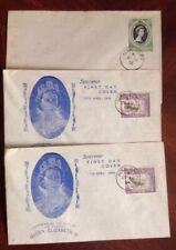 Aden 1953-54 Group Of 3 First Day Covers