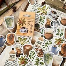46PCS/Box Retro Sticker Kawaii DIY Scrapbooking Diary Label Stickers Stationery