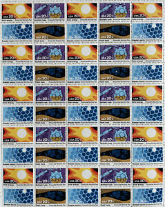 Scott #2006-2009 KNOXVILLE WORLD'S FAIR Sheet of 5O US 20¢ Stamps MNH 1982