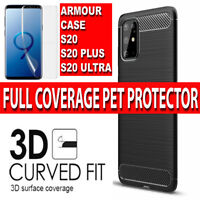 Samsung S20 Case Ultra Thin Shockproof Silicone Armour Cover & Screen Protector