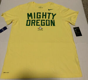"Oregon Ducks Nike Dri-Fit ""Mighty Oregon""  Men's Size: 2XL Shirt NWT Yellow"