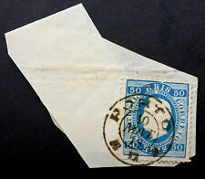 PORTUGAL #43 USED VERY FINE  on piece TO JERSEY 1879 CDS GREAT CANCEL  CAT.$50