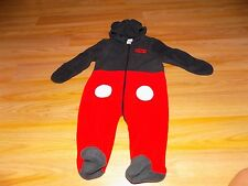 Size 6-9 Months Disney Baby Mickey Mouse One-Piece Sleeper Costume Hooded Ears