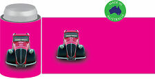 6x Designer Beer Can STUBBY HOLDER Stubbie Cooler Koozie with base Classic Car