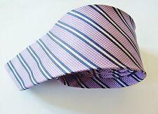 Daniel Hechter Purple With A Black & Silver / Grey Stripe Design Silk Mens Tie