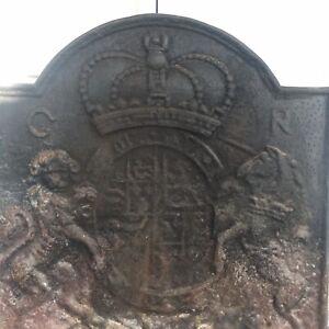 Fireback Thomas Elsley Rare Antique Colonial Williamsburg Lion Unicorn Coat Arms