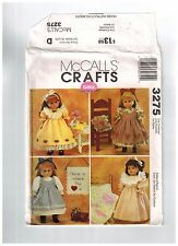 "18"" Doll Sewing Pattern Dresses Nightgown Accessories Uncut McCalls Gotz Uncut"