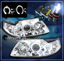 1999-2004 FORD MUSTANG HALO PROJECTOR HEADLIGHTS+HID CHROME 2000 2001 2002 2003
