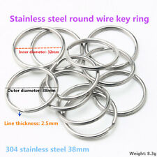 304 Stainless steel Key ring elastic Round wire 38 mm Key ring Pull ring