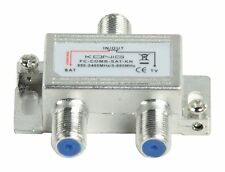SATELLITE + CABLE TV SIGNAL JOINER COMBINER WITH POWER PASS, 5-862 + 950-2400MHz