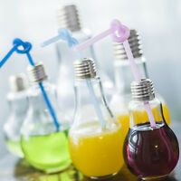 Summer Bulb Water Bottle Brief Cute Milk Juice Light Bulbs Cup Leak-proof Mug JI