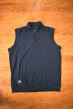 Men's Adidas Golf Lightweight Navy Blue 1/4 Zip Vest Medium
