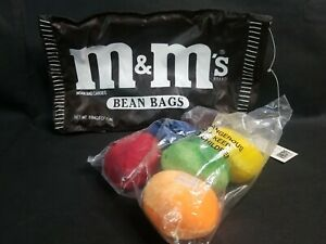 M&M's Plain Bean Bag Candy W/ Bag Brand New Rare Still Sealed Original Release