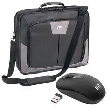 PREMIUM Notebooktasche Laptoptasche 17,3 Zoll (43,9cm) + schnurlose Maus, grau
