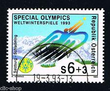 AUSTRIA 1 FRANCOBOLLO OLIMPIADI SPECIALI GIOCHI INVERNALI 1993 timbrato