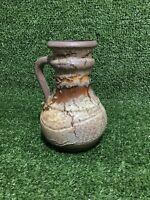 Vintage West German Scheurich Keramik Art Pottery Fat Lava 496-18 Jug Vase 17cm