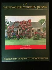 Retired WENTWORTH WOODEN JIGSAW PUZZLE -NANTUCKET Auld Lang Syne 1 Piece Missing