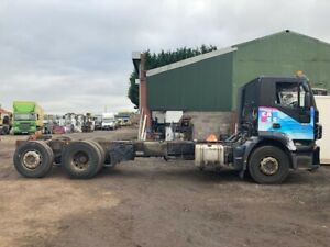 IVECO STRALIS 310 2008 6x2 CHASSIS CAB/FLAT/CURTAIN SEMIAUTO AIR SUSPENSION