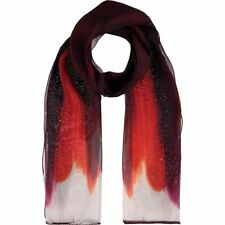 FURLA 'Margot Stola' - Beautiful 100% Silk Wine Ombre Scarf rrp £120