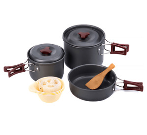 3 pc Lightweight Portable Outdoor Picnic Hiking Camping Cooking Set Pot Cookware