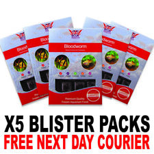 Frozen Fish Food 100g BCUK Blister packs Bloodworm x5