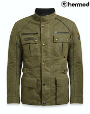 Belstaff Tourmaster Pro TekWax Wax Cotton Motorcycle Jacket - Military Green