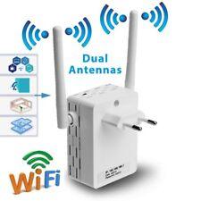 Wireless Wifi Repeater 300 Mbit Mini Router WLAN Verstärker with Dual Antenna EU