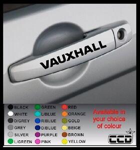 VAUXHALL Car Door Handle Stickers/Decals x 4