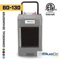 BlueDri BD-130P 225PPD High Performance Industrial Commercial Dehumidifier Grey