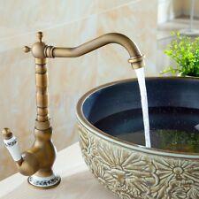 Kitchen Wet Bar Bathroom Vessel Sink Faucet Antique Brass Single Hole fnf510